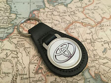 TOYOTA Quality Black Real Leather Keyring
