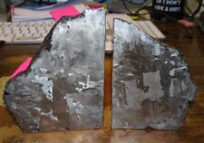 Beautiful 6810 Gm. Etched Campo Del Cielo Meteorite Book Ends