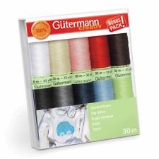 Gutermann Hilo Set Top Stitch 30mx10 Carretes Decorativo De Costura Acolcha 731154-1
