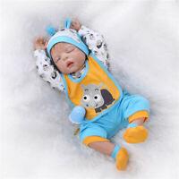 Cute Lifelike Reborn Babies Boy Dolls Full Body Silicone Newborn Toy XMAS Gifts