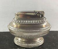 Vintage Ronson Queen Anne Silver Plated Table Cigarette Cigar Lighter Newark NJ