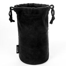 Genuine NIKON Lens Pouch. Soft black case: CL-0918 w/drawstring, padded base NEW