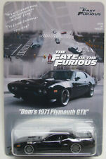 Fate of the Furious Fast 8 Dom's 1971 Black Plymouth GTX Custom Hot Wheels