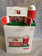 2008 HALLMARK ORNAMENT FISHER PRICE PLAY FAMILY FARM BARN - SOUND MOOS!