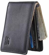 Gostwo Mens Slim Minimalist Front Pocket Wallet Genuine Leather ID Window Car...