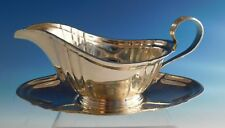 Chippendale by Gorham Sterling Silver Gravy Boat and Underplate 2pc (#2183)