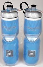 2-Pack Polar BLUE Insulated 24oz Water Bottles Bike/Hiking Dishwasher Safe USA