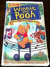 Disneys Sing Along Songs - Sing a Song with Pooh Bear (VHS, 2000 Clamshell)