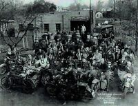 "ANTIQUE VINTAGE 1936 HARLEY-DAVIDSON OHIO MOTORCYCLE CLUB 11""X14"" B&W PHOTOGRAPH"