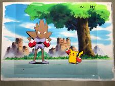 Pokemon Poche Monster Pikachu & Hitmonchan Ebiwalar Animé Production Cel Manga