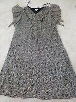 J.B.S. LTD~Women's Plus Size 32W~Brown/Beige Animal  Print Fully Lined.