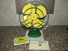 Vtg Green and Yellow Electric Fan John Deere Pocket Notebook+ Decal