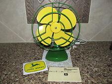 Vtg Green and Yellow Custom Paint Electric Fan John Deere Pocket Notebook+ Decal