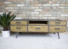 INDUSTRIAL STYLE TV STAND OR LOW CABINET, RETRO TV CABINET
