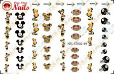 49pcs Pittsburgh Steelers Mickey Nail Art Decals Stickers Transfers ST002-49