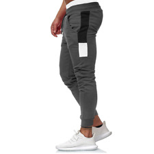 Mens Grey Fitness Cotton Joggers/Sweatpants