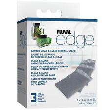 Fluval Edge Carbon Clean and Clear Renewal Sachet (3 Pack) Aquarium Fish Tank
