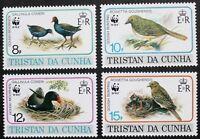 Endangered species: Birds stamps, 1991, Tristan da Cunha, SG ref: 518-521, MNH