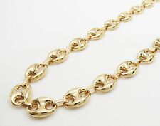 """14K Yellow Gold Puff Gucci Link Chain 11.2 mm wide 22"""""""