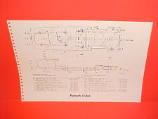 1971 PLYMOUTH CRICKET 4 DOOR SEDAN RENAULT R10 R-10 FRAME DIMENSION CHART