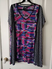 TS Taking Shape Purple and Blue Striped Patterned Top Size M