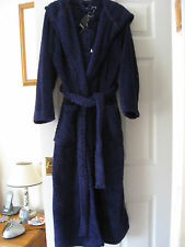 NEW WOMENS M&Co LONG PURPLE HOODED DRESSING GOWN ROBE SIZE UK 14  & SLIPPERS 4-7