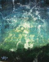 Modernist ABSTRACT PAINTING Expressionist MODERN ART HILLSIDE LIGHTNING FOLTZ