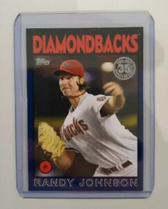 Carte de Baseball Topps - Randy Johnson 86B Blue - Arizona Diamondbacks