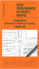 Old Ordnance Survey Mappa Liverpool STANLEY & Clarence MOLO 1848-64