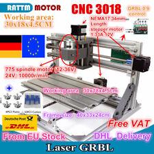 【DE】 3 Axis Desktop 3018 USB DIY Mini CNC Router Milling Engraver Laser Machine