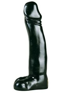 Gros Gode XXL All Black Belgo-Prism Realiste 33.5 x 7 cm Gros Diametre