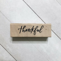 Thankful Rubber Stamp Recollections Wood Mounted Thanksgiving