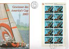 Switzerland - 2003 America's Cup / Sailing - Mi. 1831 KB clean FDC