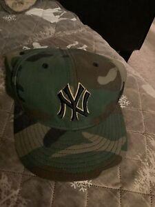 New York Yankees Camo Snapback Adjustable Baseball Cap/Hat New Era