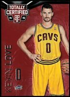 2014-15 Totally Certified Platinum Red Basketball Card #104B Kevin Love
