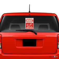 In Case of Emergency Rescue My Chinese Crested Windshield Sticker #2 v2 puff