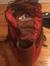 UPPER PARK 2021 SHIFT DISC GOLF BACKPACK BAG - RUST RED - EXCELLENT CONDITION