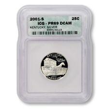 USA Kentucky State Quarter 2001 S Silver Proof ICG PR 69 DCAM