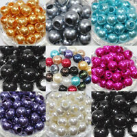 Wholesale Lots 10/20Pcs Faux Pearl Round Loose Spacer Beads 12mm 18mm 14mm 16mm