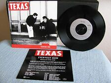 "Texas 7"" Everyday Now, UK Promo with rare Promo Insert, M-/M!  USA Seller"