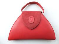 Rote CARTIER Umhängetasche in Trapezform mit Cartier Doppel C-Logo