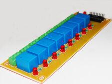 8 relay 12V interfacing board for PIC ATMEL AVR atmega arduino