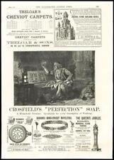 1887-Pubblicità Crosfield perfezione SOAP treloar Cheviot Tappeto Benson (19)