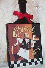Chef Cutting Board Wall Plaque Decoration Bistro Decor Cafe Bread