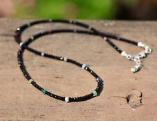 Natural Black Spinel Multi Gem Sapphire Necklace Sterling Silver 925  Canada