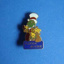 Jiminy Cricket with White Hat Florida Jaycees JCC Disney Pin LE RARE PInocchio