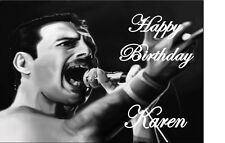 PERSONALISED FREDDIE MERCURY A4 TRIFOLD BIRTHDAY CARD anyNAMEage ANY OCCASION