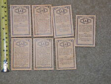 DOMINO COUPON KINGS CIGARETTE TOBACCIANA COLLECTIBLE RARE OLD 1964 LOT OF 7 WOW