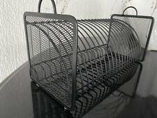CD Regal-Ständer,SCHWARZ,20 Stück-Halter,rechteckig,zum Hinstellen,32cm x14,5 cm