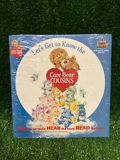NEW Vintage Read A Long Book + Record Let's Get To Know The Care Bear Cousins